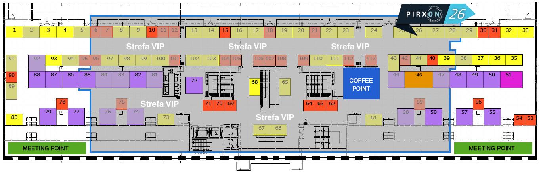 Pirxon naIT Future Expo 2019 - Mapa stoisk